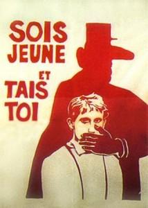 Affiche et slogan de Mai 68 Source : École nationale des beaux-arts (1968)