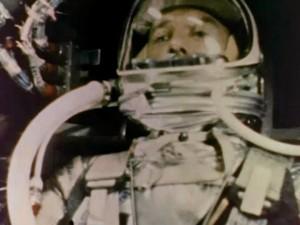 Alan Sheppard durant la mission Source : NASA (1961)