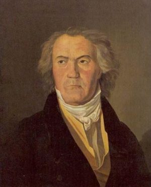 Beethoven Copie d'un portrait de Ferdinand Georg Waldmüller (1823)