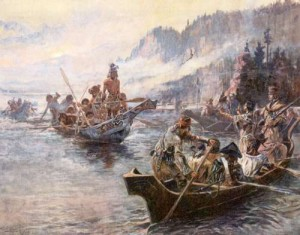 Lewis and Clark on the Lower Columbia Charles Marion Russell (1905),