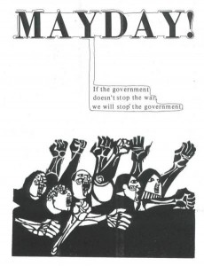 Affiche de propagande du MayDay Tribe (1971) Source : libcom.org