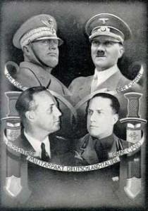 Affiche allemande célébrant le Pacte d'Acier (1939). Source : B&S Éditions