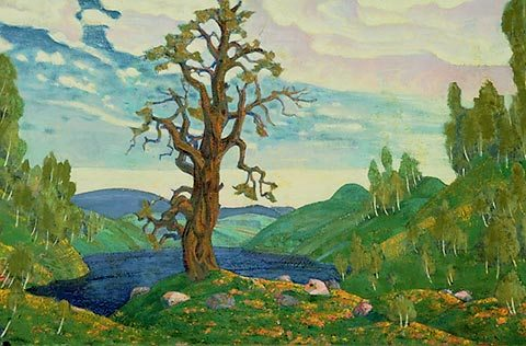 Élément du décor de la production originale par les Sergei Diaghilev. Nikolai Roerich (1912)