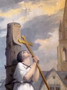 Jeanne d'Arc sur le bûcher par Jules-Eugêne Lenepveu. Photo : Rémih