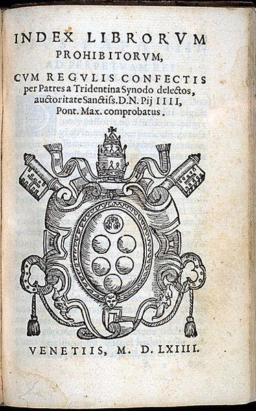 Index Librorum Prohibitorum Venise, 1564