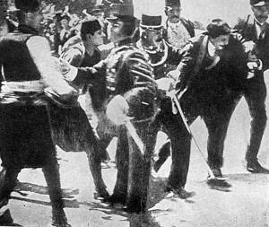 """Arrestation de Gavrilo Princip Source : Adam Szelągowski """"XX wiek"""" Warszawa 1938"""