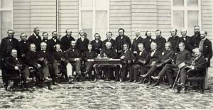 Les délégués à la Conférence de Québec. Photo : Jules-Isaïe Livernois (1864)