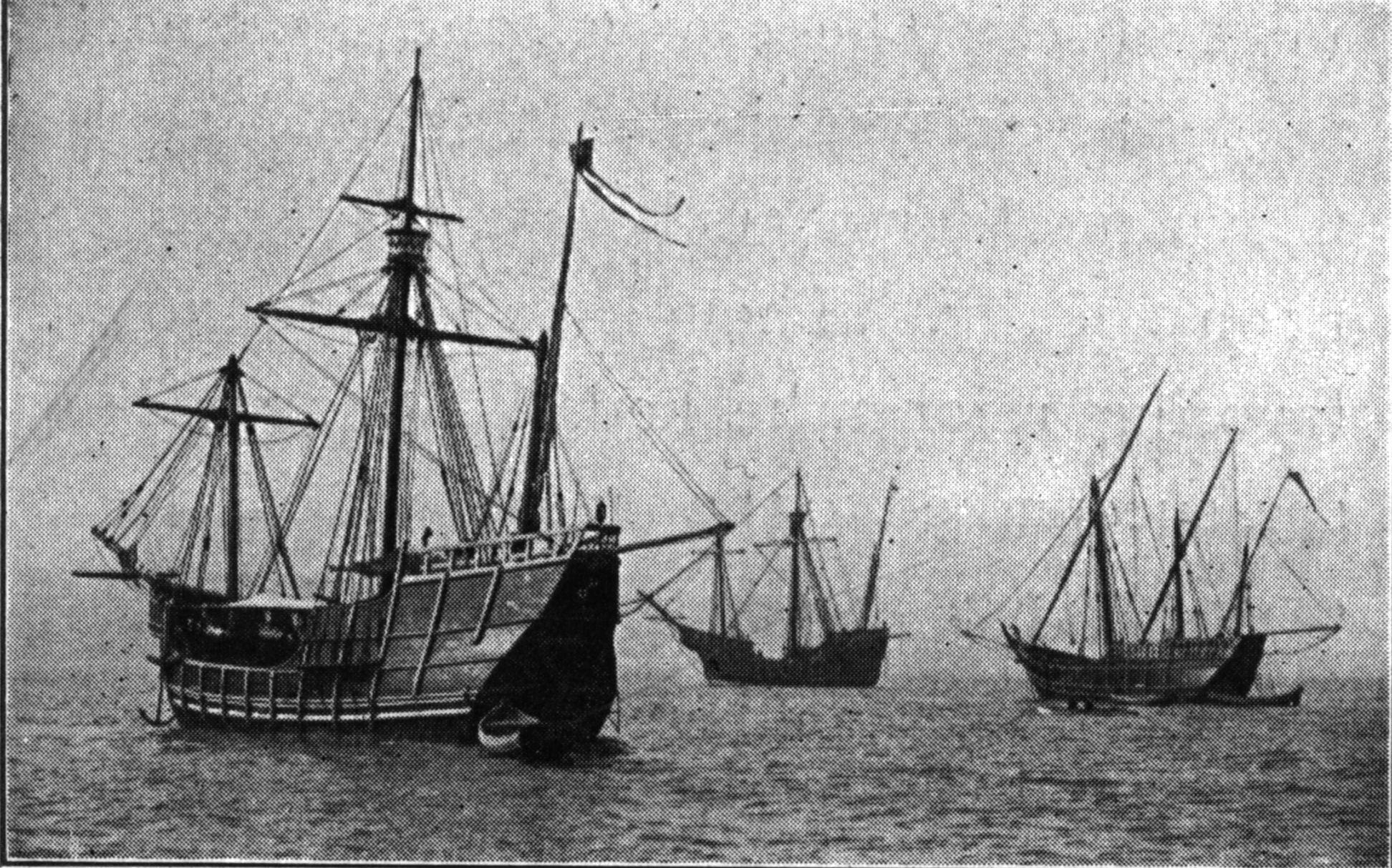 3 août 1492 Christophe Colomb quitte l\'Espagne à la recherche des ...