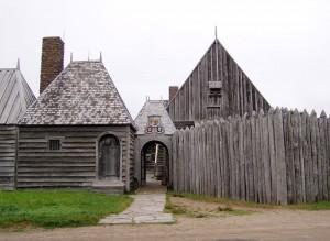 Réplique_de _l'habitation_Samuel_de_Champlain_Port-Royal_Nouvelle-Écosse_Langlois