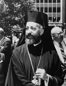 Makarios III, archevêque et primat de l'Église orthodoxe de Chypre. Photo : Orlando Fernandez (1962)