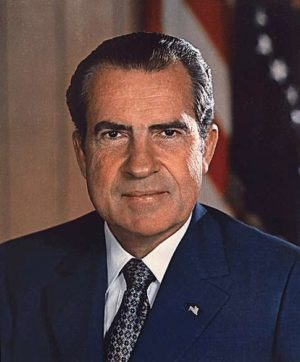 Richard M. Nixon vers 1973. Source : White House photo office