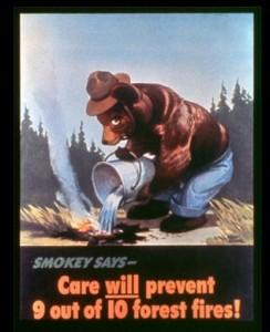 Première affiche de la campagne contre les feux de forêts. Source : PD-USGOV