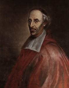 Mgr François de Laval. Huile sur toile attribuée au frère Luc par Gérard Morisset (1672?) Image votive lithographiée