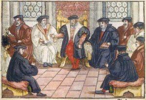 Le colloque de Marbourg Gravure sur bois anonyme (1557)