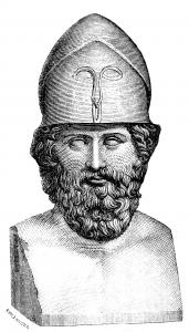 Gravure d'un buste de Thémistocle. Source : Ersnt B. Wallis et al. (1880)