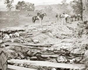 Bloody Lane Photo : Alexander Gardner (1862) Source : Librairie du Congrés