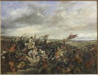 Bataille de Poiters Peinture d'Eugène Delacroix (1830) Source : Musée du Louvre/Martine Beck-Coppola