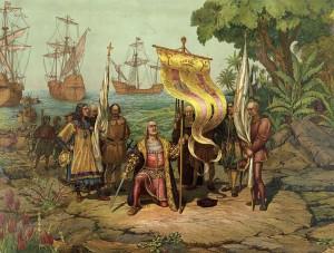 Christopher Columbus arrives in America L. Prang & Co. (1893)