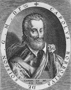 Charles de Bourbon, comte de Soissons Gravure sur cuivre de Dominicus Custos (1600-1602)