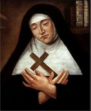 Image votive de Mère Marie de l'Incarnation. Collection : NelsonWeb