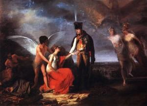 Junot protégeant la cité de Lisbonne Huile sur toile de Domingos Sequeira (1808) Source : Musée national Soares d0s Reis