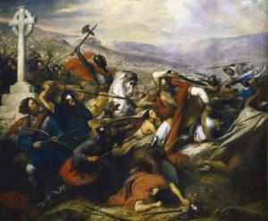 Bataille de Poitiers Huile sur toile de Charles de Steuben (1837) Collection : Château de Versailles