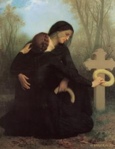 Le Jour des morts Huile sur toile de William-Adolphe Bouguereau (1859) Collection : Musée des Beaux-Arts de Bordeaux