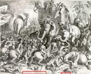 La Bataille de Zama Gravure de Cornelis Cort (1567)