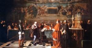 Galilée devant le Saint-Office au Vatican Peinture de Joseph-Nicolas Robert-Fleury (1847) Source : Musée du Louvres