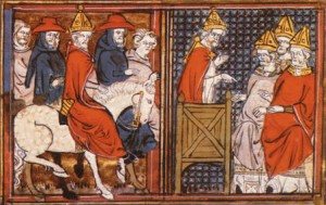 Godefroi de Bouillon & Urbain II Illustration anonyme (XIVe siècle)