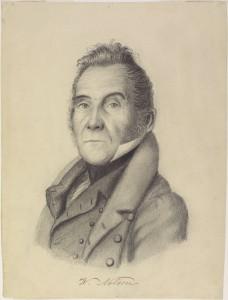 Portrait de profil de Wolfred Nelson Dessin au crayon de plomb de Jean-Joseph Girouard (1837)
