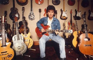 George Harrison et sa collection de guitare durant les années 1980 Source : www2.gibson.com