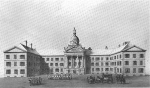 Le premier Parlement de Québec Lithographie de Sarony & Major (1852) Source : BANQ
