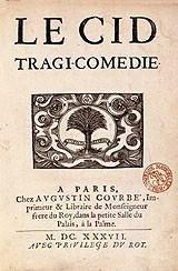 Page titre du Cid Paris, Augustin Courbe, 1637