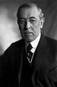 Le président américain Woodrow Wilson Photo : Harris & Ewing (1919)