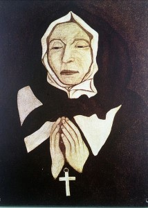 Vrai portrait de Marguerite Bourgeoys Huile sur toile de Pierre Le Ber (1700) Source : Wikimedia Commons