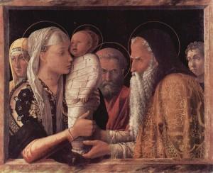 Présentation de Jésus au Temple Tempera sur toile d'Andrea Mantegna (1465-1466) Source : The Yorck Project