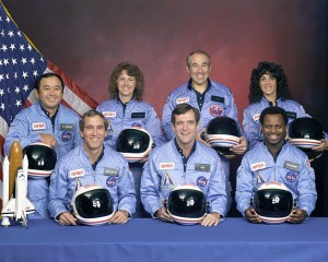 Portrait officiel de l'équipage de la Mission STS-51-L Source : NASA (1985)