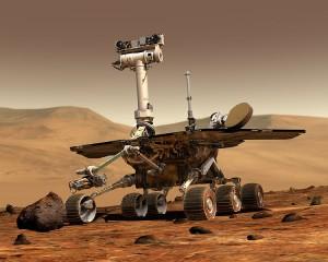 Vue artistique d'un rover d'exploration martienne Photo : NASA/JPL/Cornell University, Maas Digital LLC (2003)