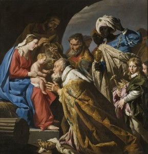 L'Adoration des Mages Peinture de Matthias Stom (XVIIe siècle) Source : Wikimedia commons