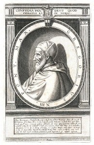 Le pape Grégoire XIII Gravure attribuée à Eiulsius (XVe siècle) Source : Bibliothéque de la Smithsonian Institution