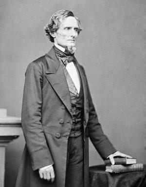 Jefferson Davis, président des États confédérés Photo : Matthew Brady (c1861)
