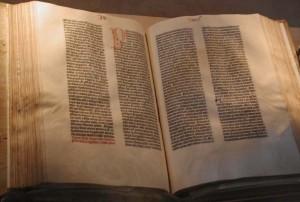 Bible de Gutenberg de la Librairie du Congrès Photo : Mark Pellegrini (2002)