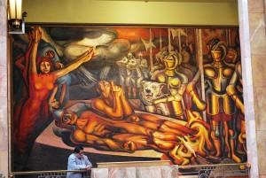 La Torture de Cuauhtémoc Murale de David Alfaro Siquerios (1951) Photo : Jaontiveros (2009)