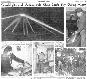 Reportage sur la bataille de Los Angeles Source : Los Angeles Times (1942)