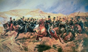 The Charge of the Light Brigade Peinture de Richard Caton Woodville (1894) Source : Palacio Real de Madrid