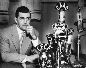 Maurice «Rocket» Richard lance un appel au calme à ses supporters (1955) Source : RDS.ca
