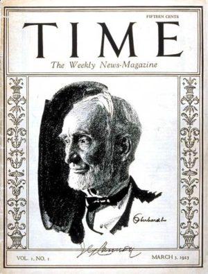 Couverture de la première livraison du Time Magazine (1923)