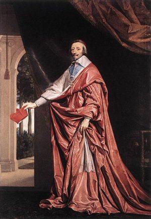 Portrait du cardinal Richelieu Huile sur toile de Philippe de Champaigne (ca1633-1640)