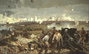 The Taking of Vimy Ridge, Easter Monday 1917 Peinture de Richard Jack (ca1919)